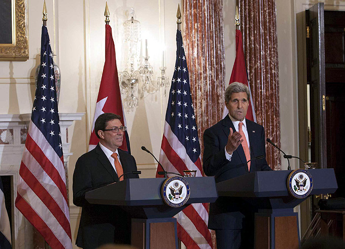 ESTADOS UNIDOS-WASHINGTON-CONFERENCIA DE PRENSA DE BRUNO Y KERRY EN EL DEPARTAMENTO DE ESTADO