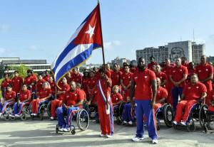 CUBA-ABANADERAMIENTO A LA DELEGACION CUBANA QUE VPARTICIPARA EN