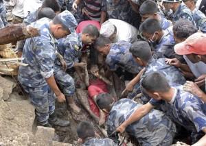 Deslizamiento Nepal