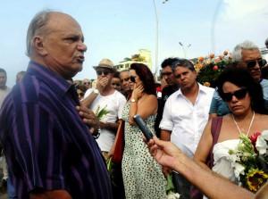 CUBA-LA HABANA- VERTIDAS AL MAR LAS CENIZAS DE LA ACTRIZ ALINA RODRÍGUEZ