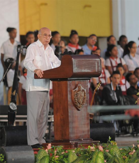 José Ramón Machado Ventura: seamos siempre fieles a la Patria y a la Revolución