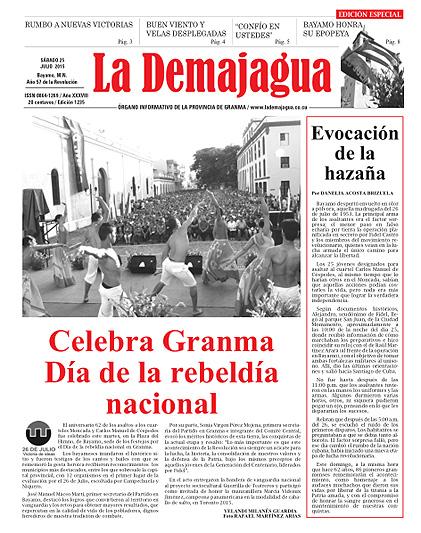 Edición Impresa del Semanario, 25 de julio 2015