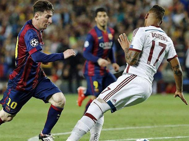 El gol maravilla de Messi ante Boateng y Neuer, el mejor de la Champions 14-15