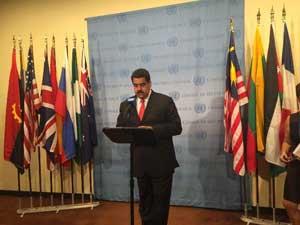 Maduro defiende en ONU posición de Venezuela sobre Esequibo