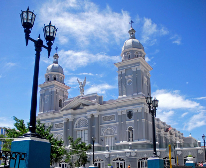 SANTIAGO DE CUBA- LISTO PARQUE CÉSPEDES PARA GALA CULTURAL