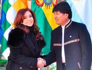 Evo Morales visita Argentina