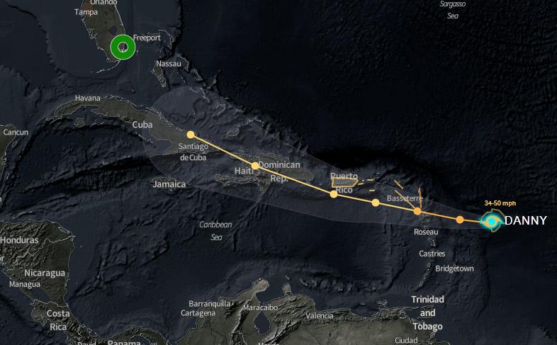 El huracán Danny genera tormenta tropical en el Caribe
