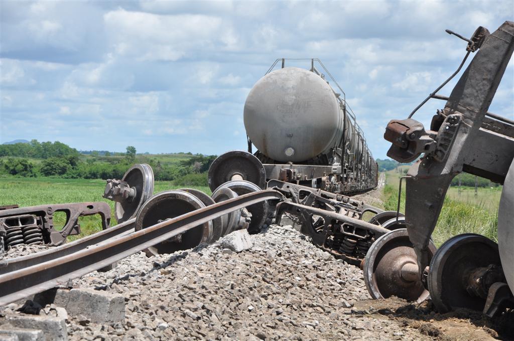 Sancti Spíritus: descarrilamiento de tren de carga en Sabanilla