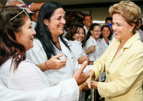 Agradece Dilma contribución cubana a la salud del pueblo brasileño