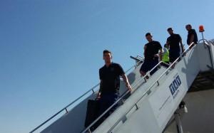 El Barça aterrizó en Tiflis