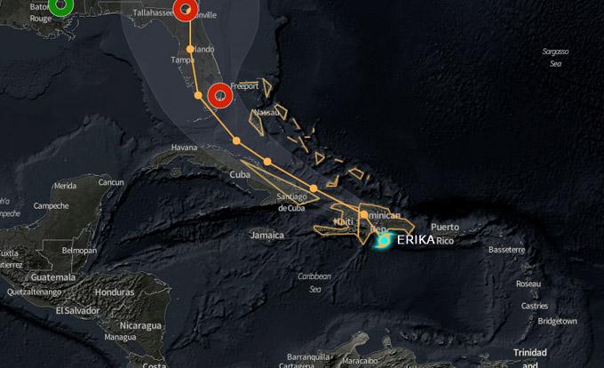 """Alerta Ciclónica en varias provincias orientales por """"Erika"""""""