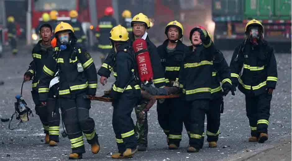 Aumenta a 112 los muertos por explosiones en norte de China