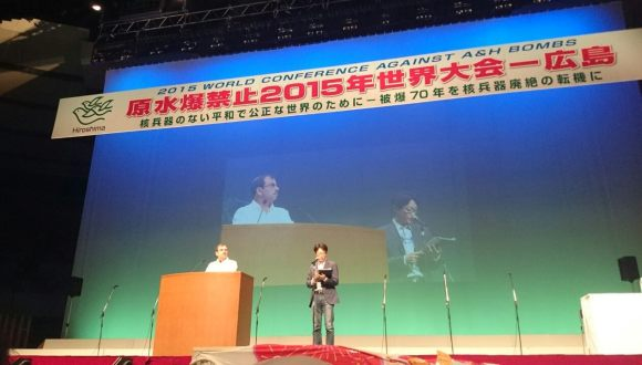 Fernando González lleva la solidaridad de Cuba a Hiroshima y Nagasaki