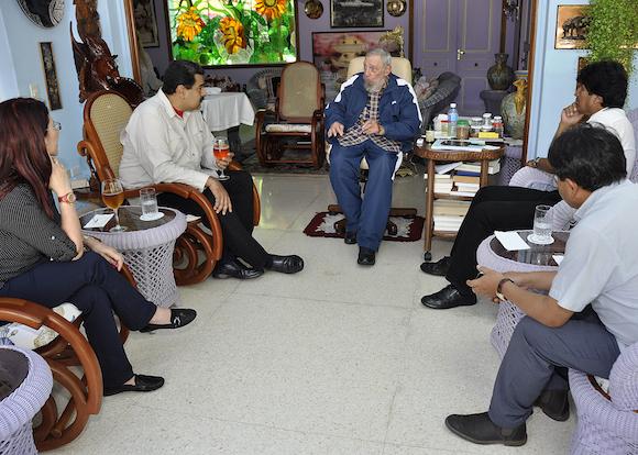 Fidel celebra su cumpleaños 89 con Nicolás Maduro y Evo Morales
