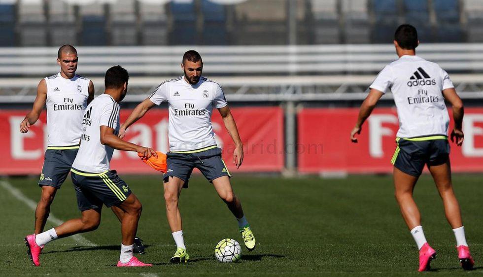 Benzema ultima su vuelta y Bale se entrenó al margen