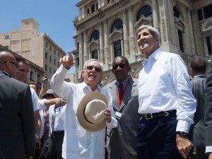 Kerry en La Habana Vieja