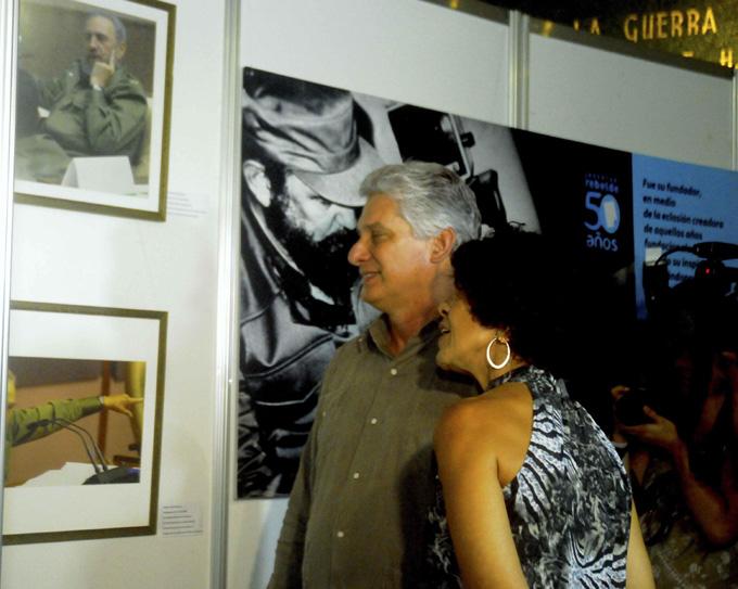 CUBA-LA HABANA- INAUGURAN EXPOSICIÓN ANIVERSARIO 50 DE LA UJC