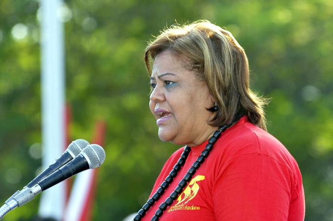 Olga Lidia Tapia, miembro del Secretariado del Comité Central del PCC