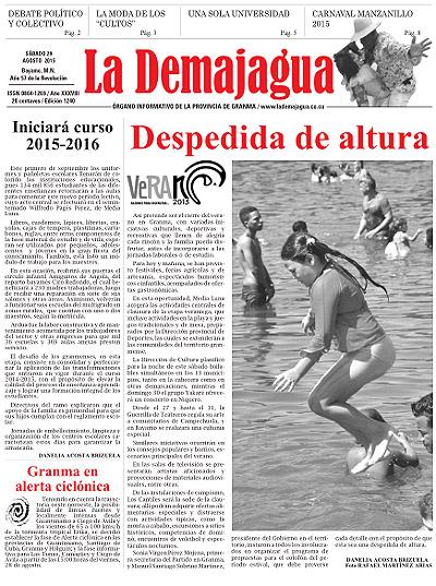 Semanario La Demajagua (PDF), 29 de agosto 2015