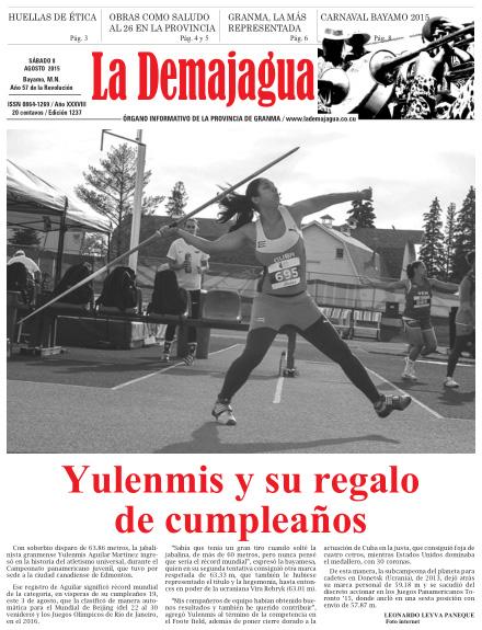 Semanario La Demajagua (PDF), 8 de agosto 2015