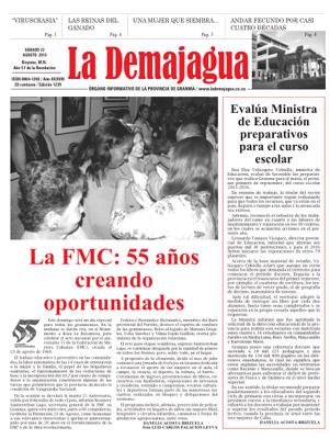 Semanario La Demajagua (PDF),  22 de agosto 2015