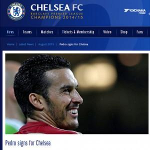 Pedro en el Chelsea