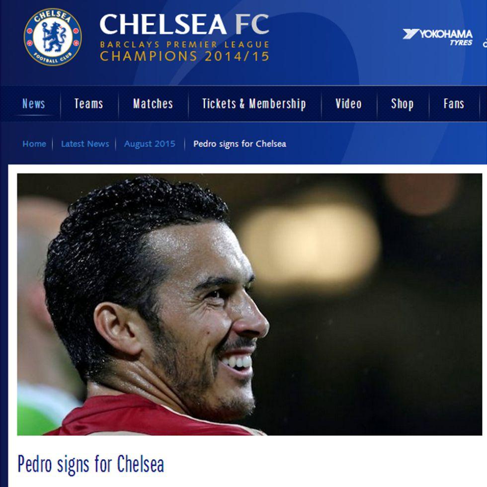 Oficial: Pedro al Chelsea, 27 millones más tres de variables