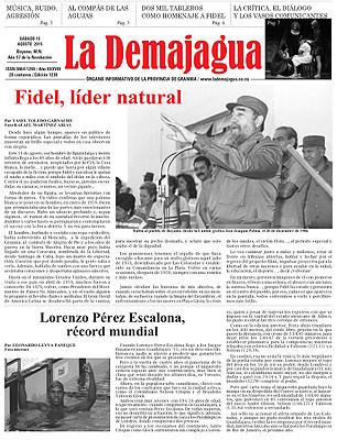 Semanario La Demajagua (PDF), 15 de agosto 2015