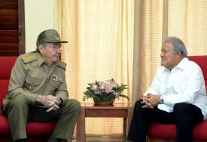 Raúl Castro y Salvador Sánchez