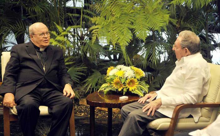 Dialogó Raúl con el Cardenal Jaime Ortega