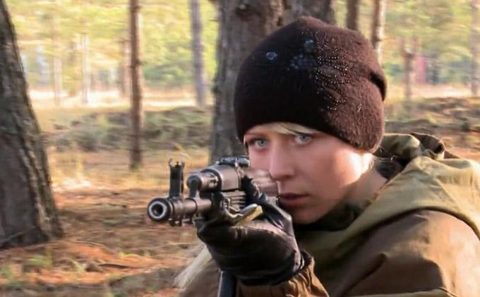 Unidad femenina de las fuerzas especiales Spetsnaz de Rusia