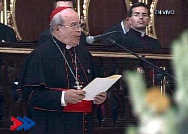 Palabras del cardenal Jaime Ortega en la Plegaria de la Vísperas