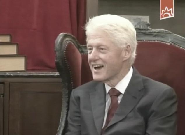 Encuertro entre Raúl Castro y Bill Clinton 2