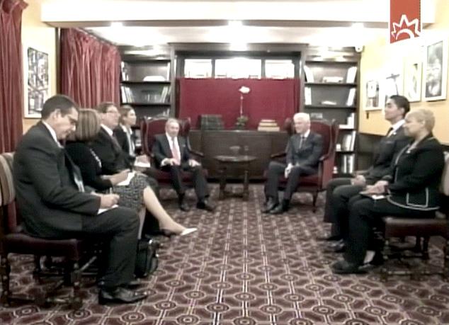 Encuertro entre Raúl Castro y Bill Clinton 3