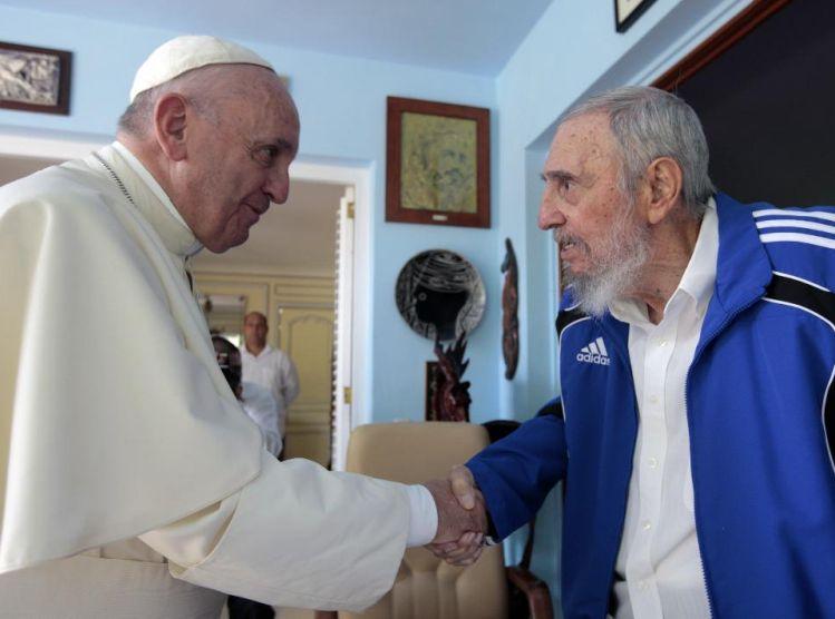 Se encuentran Fidel y el Papa Francisco