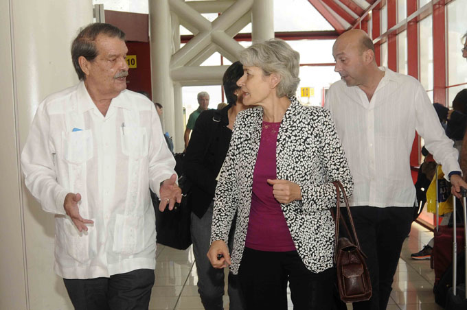 CUBA-LA HABANA-ARRIBA DIRECTORA GENERAL DE LA UNESCO