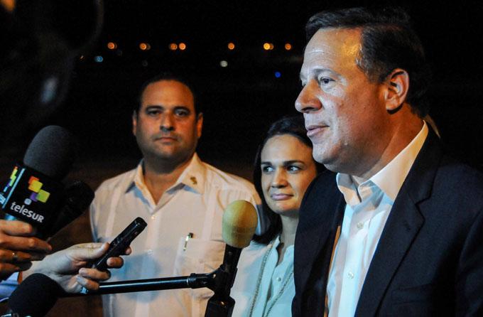 Arribó a Cuba presidente Juan Carlos Varela, de Panamá