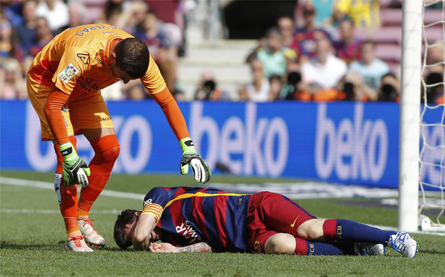Leo Messi, lesionado