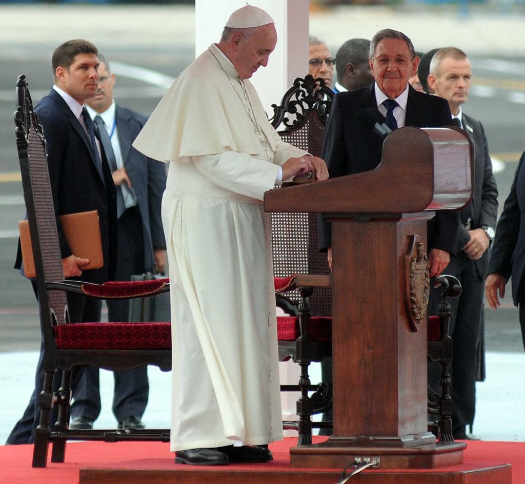 Llegada del Papa a Cuba