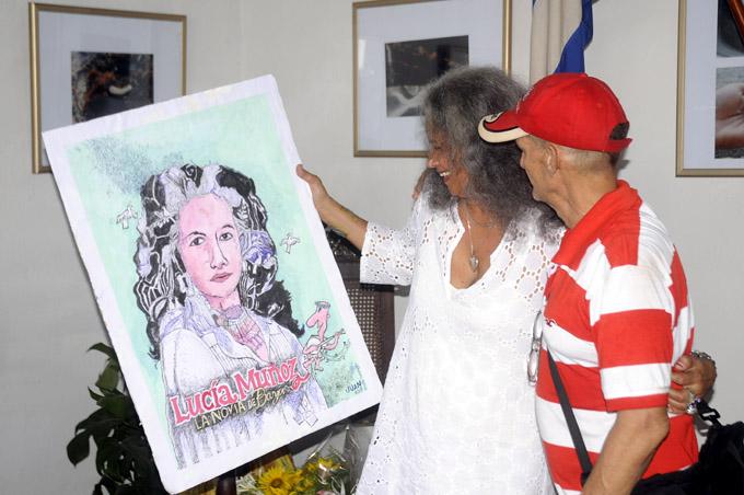 Lucia, por el caricaturiasta Juan Rodríguez (Puchichi)
