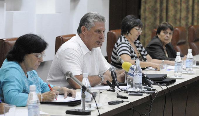 CUBA-LA HABANA-SOSTIENE DÍAZ-CANEL ENCUENTRO CON REPRESENTANTES DE INSTITUCIONES RELIGIOSAS Y ASOCIACIONES FRATERNALES CUBANAS