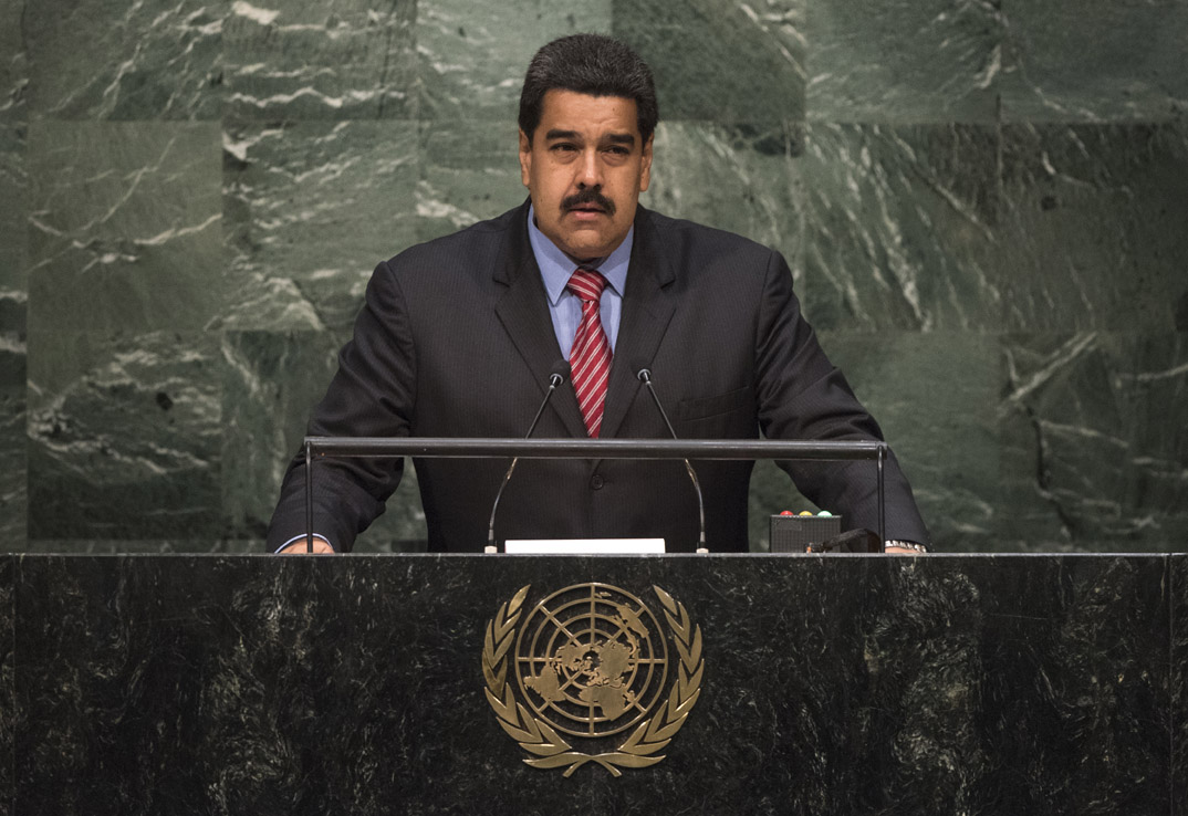His Excellency Nicolás Maduro Moros, President of the Bolivarian Republic of Venezuela  General Assembly Seventieth session 9th plenary meeting: High-level plenary meeting of the (6th meeting)