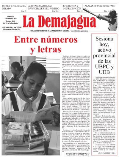 Semanario La Demajagua (PDF), 5 de septiembre 2015