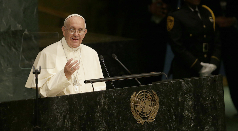 El Papa Francisco en la ONU: La guerra es la negación de todos los derechos