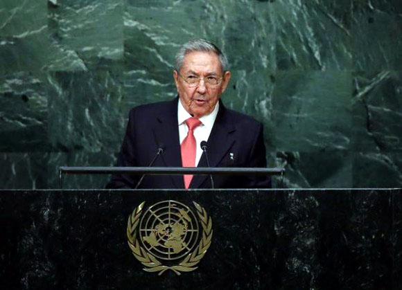 Raúl Castro, ONU