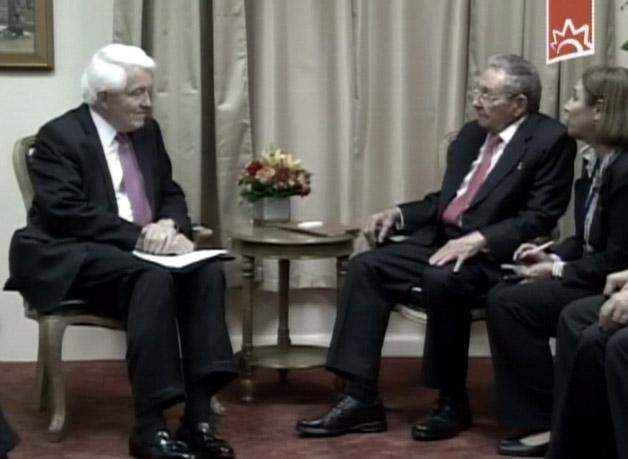 Raúl Castro con importantes empresarios en USA