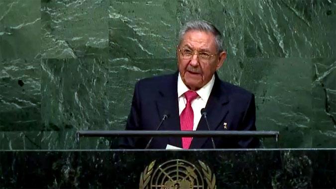 Raúl Castro habla en la ONU