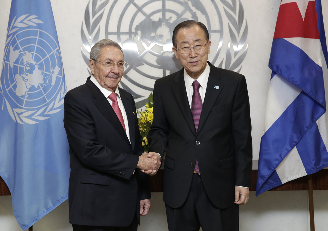 The Secretary-General with H.E. Mr. Raul Castro Ruz, President, Cuba
