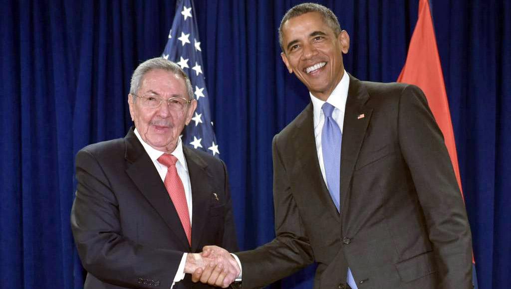 Raúl Castro y Barack Obama en la ONU