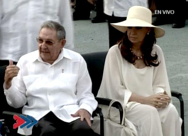 Raúl Castro y Cristina Fernández, Misa La Habana